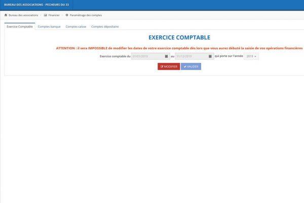 Module Financier : Exercice comptable